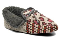 Chaussons Patchwork mocassin Ruby Brown. Pointure : 38.