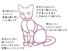 特徴をつかんで!ネコをそれっぽく描くポイントの3枚目の画像