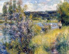 Pierre-Auguste Renoir (1841-1919, France) | Le Séné a Chatou (La Senna a Chatou), 1881