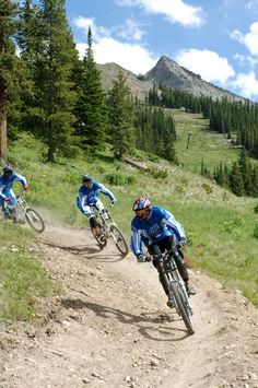 Downhill mountain biking is quite the thrill!