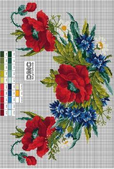 Gallery.ru / Фото #6 - орнаменти - MASHA123 Cross Stitch Love, Beaded Cross Stitch, Cross Stitch Flowers, Cross Stitch Designs, Cross Stitch Embroidery, Cross Stitch Patterns, Ribbon Embroidery, Embroidery Patterns, Cross Stitching