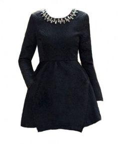 Embellished Jacquard Dress
