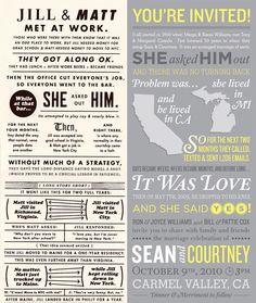 Infográficos no seu convite de casamento #infographic #wedding