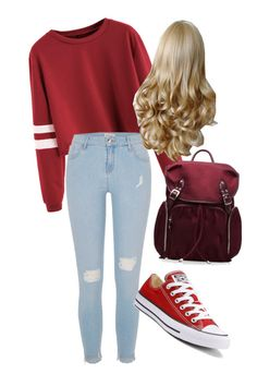 """""""Its just School"""" by gucci-af ❤ liked on Polyvore featuring River Island, Converse and M Z Wallace"""