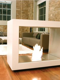 Vision Freestanding Fireplace by EcoSmart Fire on Gilt Home
