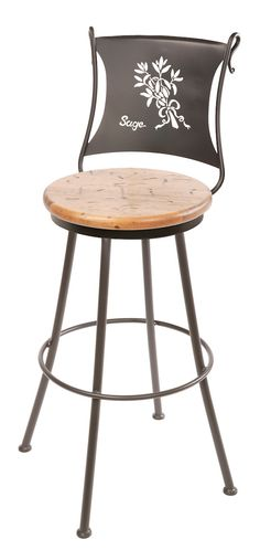 "Stone County Ironworks 902-773-DPN Sage Barstool 25"" (with swivel)"