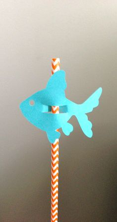 Paper Fish Straw Tag Decoration Set of 12 by KreativeKaitlyn, $6.00