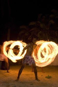 Fire Dance at Travellers Beach Resort #fiji