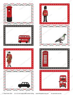 London Calling Printable Labels British soldier by hfcSupplies