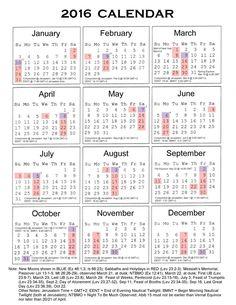 Free Printable 2016 Calendar with Holidays