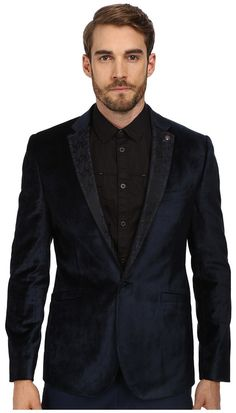 $595, Ted Baker Seawor Velvet Blazer Label Detail. Sold by Zappos. Click for more info: https://lookastic.com/men/shop_items/144807/redirect