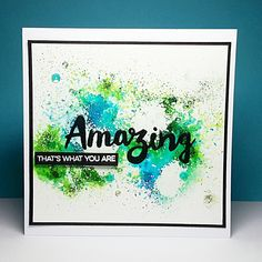Janey's Cards: Brusho Paints