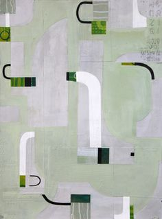 """Parenthetical, Mixed media on paper, 30x22"""" by Susanne Carmack"""