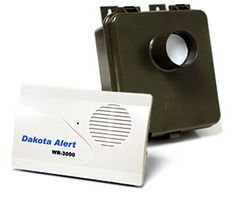 http://www.drivewayalarmdepot.net/dwa2.html The DWA-2 ( DAKOTA ALERT WMA-3000 ) driveway alarm has a 600 ft transmission range ( ACTUAL DISTANCE WILL BE LESS - WE EXPECT THIS WILL BE 300-400 FEET IN MOST CASES) and is packed with features the competition can only dream of and the best thing is the PRICE - much lower. Read further to see why this will be one of the best new alarms you will find today.