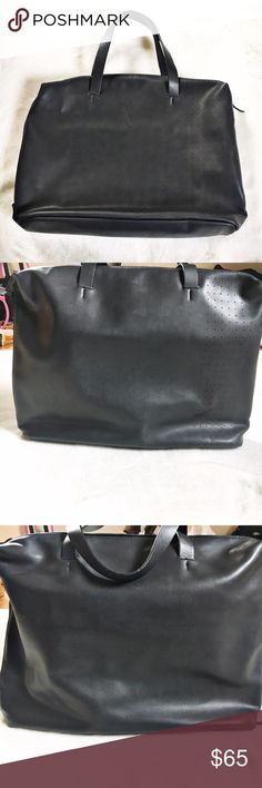 Zara black briefcase paten leather man bag This bag is the perfect man statement piece. Big enough to carry a laptop and paperwork it extends on the side and has a padded inside pocket. This bag is new without tags and has never been worn outside the store Zara Bags Briefcases