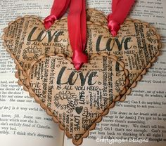 Love Hearts-Vintage Style Gift Tags/Labels