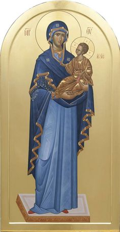 Byzantine Icons, Byzantine Art, Religious Icons, Religious Art, Greek Icons, Church Icon, Mama Mary, Russian Icons, Blessed Mother Mary