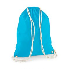 WM110 Westford Mill Cotton Gym Sack Drawstring cotton gym bag. - 100% cotton - Size: 46cm x 37cm - Contrast rope drawcord. - 140gsm - Price from £0.99