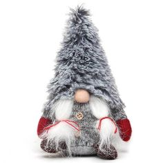 Nordic Girl Gnome with Fuzzy Hat