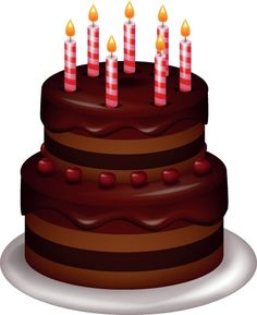 Set of Birthday cake vector 05
