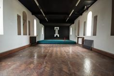 The chapel. We were rarely allowed in here, as it was in the old part of the school. The nuns used to keep the floor so polished you could fall over on it. Sad to see it so scratched. Holy Trinity Convent School, Bromley - 2012