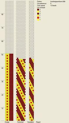 6 around tubular bead crochet rope pattern Crochet Bracelet Pattern, Crochet Beaded Bracelets, Bead Crochet Patterns, Crochet Diagram, Peyote Patterns, Beading Patterns, Bead Loom Designs, Beaded Jewelry Designs, Spiral Crochet