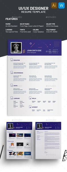 2 Pages Creative Resume Template by ResumeInventor on