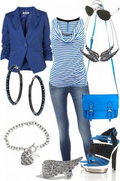 Striped shirt with jeans