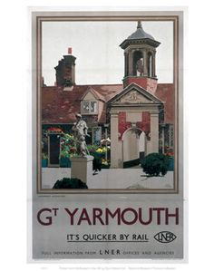 Great Yarmouth - Fishermen's Almshouses by National Railway Museum Posters Uk, Train Posters, Railway Posters, Poster Prints, Art Prints, National Railway Museum, Great Yarmouth, Beautiful Posters, Art Uk