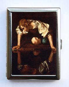 Caravaggio Cigarette Case Wallet Business Card Holder by che655