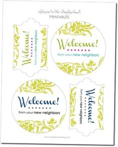 photo about Welcome to the Neighborhood Printable titled 11 Perfect Welcome Neighbor photographs inside of 2016 Welcome fresh