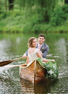 Blue Ridge Farm Wedding by Shindig and Jen Fariello - Southern Weddings Canoe Wedding, Lakeside Wedding, Farm Wedding, Dream Wedding, Plaid Wedding, Forest Wedding, Woodland Wedding, Wedding Reception, Wedding Picture Poses