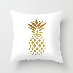 Golden+Pineapple+Throw+Pillow+by+Pati+Designs+-+$20.00