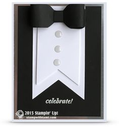New Years Black tie tuxedo card + tutorial and video
