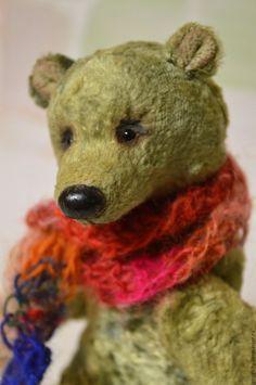 Купить Эрни мишка Тедди - оливковый, зеленый цвет, медведь, медведь тедди, медведь игрушка