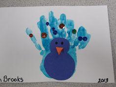 handprint bird craft