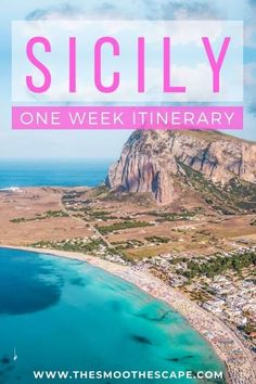In this Sicily travel guide, you'll find the best places to visit in Sicily together with a perfect Sicily itinerary if you just have one week to spend. From beautiful beaches and idyllic villages to hiking Mount Etna and tasting local food. #thesmoothescape   Sicily Italy   Sicily Palermo travel   Sicily beautiful places   San Vito Lo Capo   Sicily travel tips   Things to do in Sicily   Sicily travel map   Taormina   Sicily food   Mt Etna Sicily hike