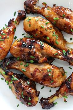 Sweet and Spicy Asian Glazed Grilled Chicken Drumsticks