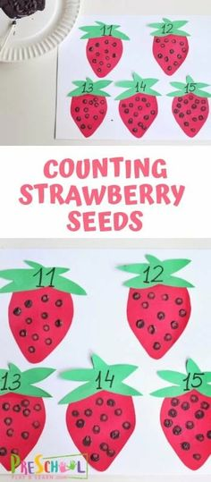 Strawberry Counting Activities for Preschoolers