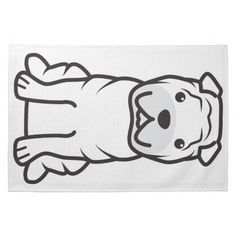 Chinese Shar-Pei Dog Cartoon Kitchen Towels