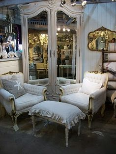 Rich and I want our house to be white, french,vintage, maybe some grey and mercury silver pieces :)