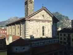 Santuario della Vittoria. Luglio. Lecco. Lago di Lecco. Lario. Lombardia. Italia.