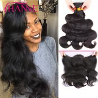 Malaysian Body Wave With Frontal Closure 3 Bundles 13x4 Ear To Ear Lace Frontal With Baby Hair And Bundles Long Human Hair Weave