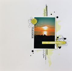 Scrapat helt enkelt: Amazing sunset -Colorful creations Layout CAS Colorful Creations