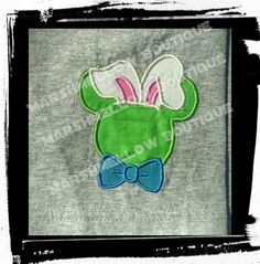 Easter Bunny Mickey mouse T-shirt Embroidery Kids by MARSHMELLOWBOUTIQUE on Etsy