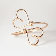 Two Hearts Ring Gold, 23€, now featured on Fab.