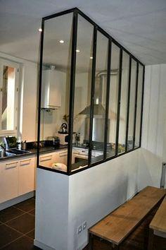 Ideas kitchen room divider ideas inspiration for 2019 Farmhouse Kitchen Decor, Interior, Home, Small Apartments, Glass Kitchen, New Homes, House Interior, Home Deco, Interior Design