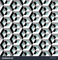 Architectural pattern, optical illusion, vector illustration