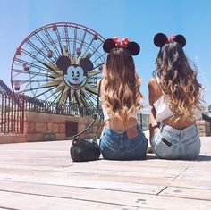 best friend, cute, disney, disney world, disneyland, fashion, friends, friendship, girls, goals, hot, love, mickey mouse, outside, shirt, shorts, style, summer, tumblr