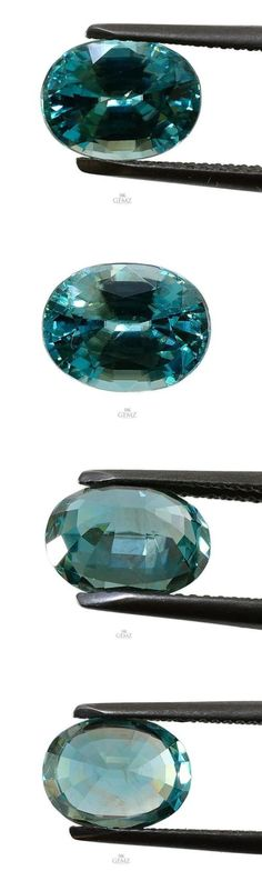 Zircon 10286: 4.11Cts Natural Blue Zircon Cambodian Heated Loose Gemstone Oval Shape BUY IT NOW ONLY: $189.0